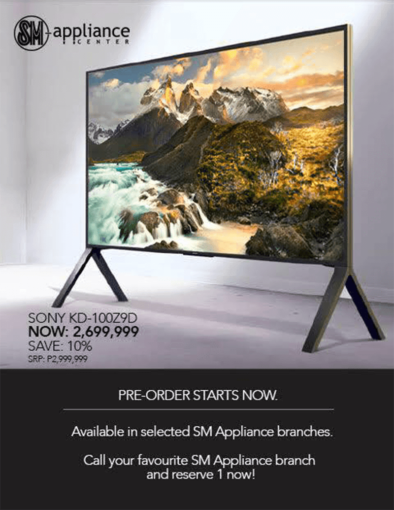 Sony KD-100Z9D Philippines