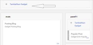 Membuat Menu navigasi halaman , page pada blog