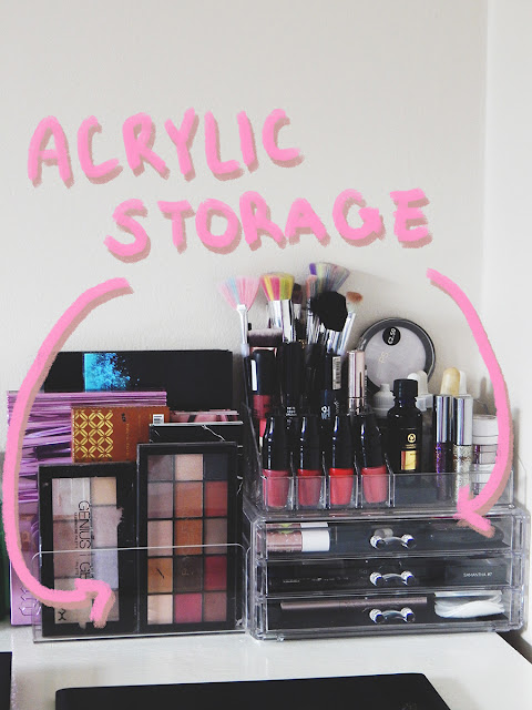 Bedroom Tour Part Two || How I Styled My Up-Cycled Desk (Makeup storage and organization)