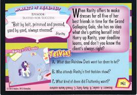 My Little Pony Stitch by Stitch Series 2 Trading Card