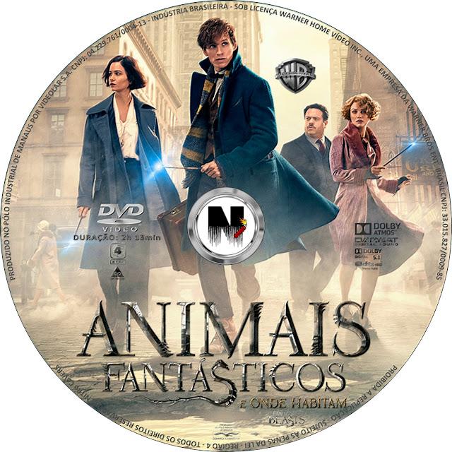 Label DVD Animais Fantásticos E Onde Habitam