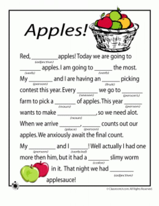 image relating to Free Printable Mad Libs for Middle School Students titled Prepare Pieces of Speech with Ridiculous Libs - Produce Mastering Pleasurable