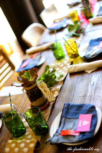rustic table scape for a party