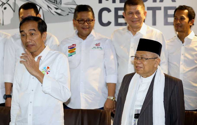 Survei SPIN, Keunggulan Jokowi-Maruf Tinggal 8 Persen