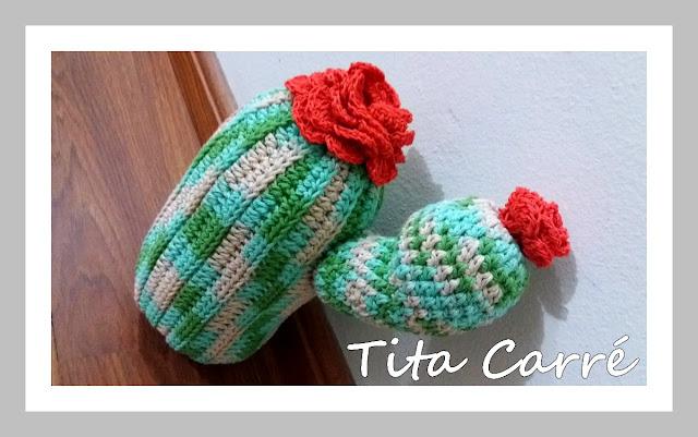 Mini Almofada Cactus em crochet