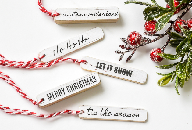 Printable, holiday wood tags, Christmas printable, Christmas tags
