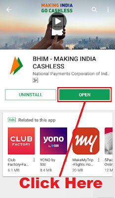how to register in bhim app