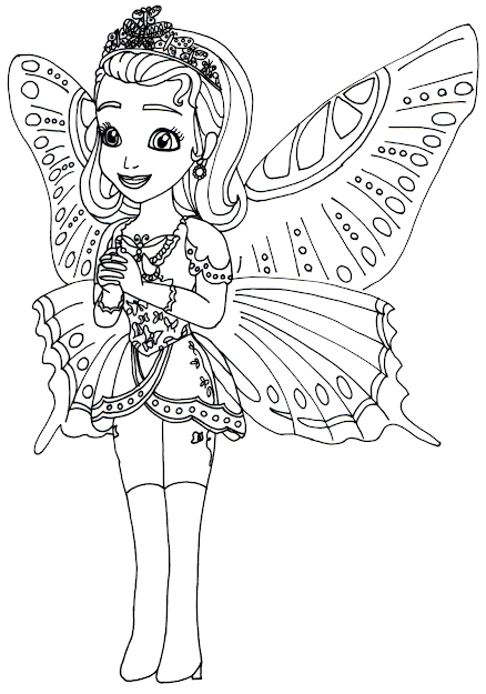 Sofia The First Coloring Pages Princess Butterfly Sofia The First Coloring  Page