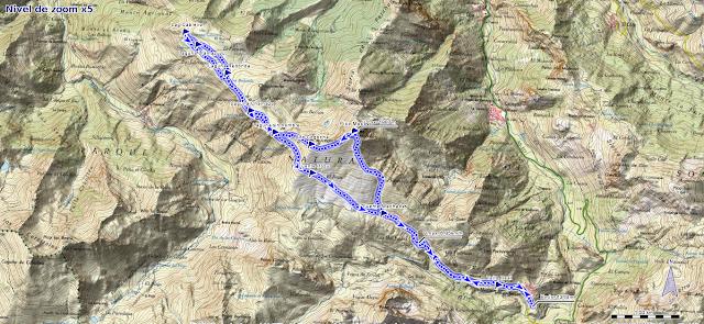 Mapa de la ruta al Pico Mocoso y Lagunas del Páramo