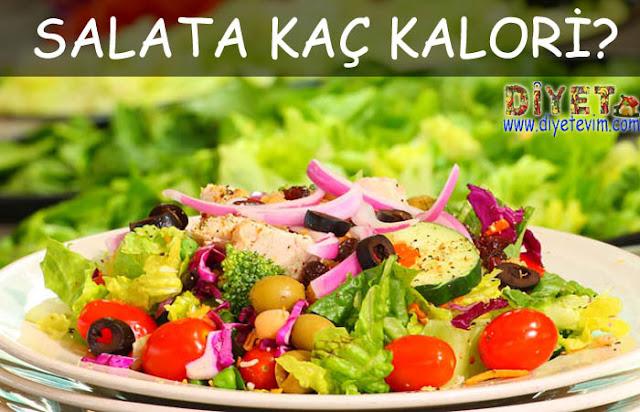 salatanın kalorisi