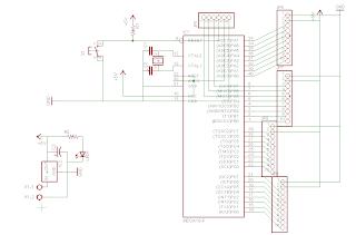 schematic rangkaian sistem minimum atmega 16 avr eagle