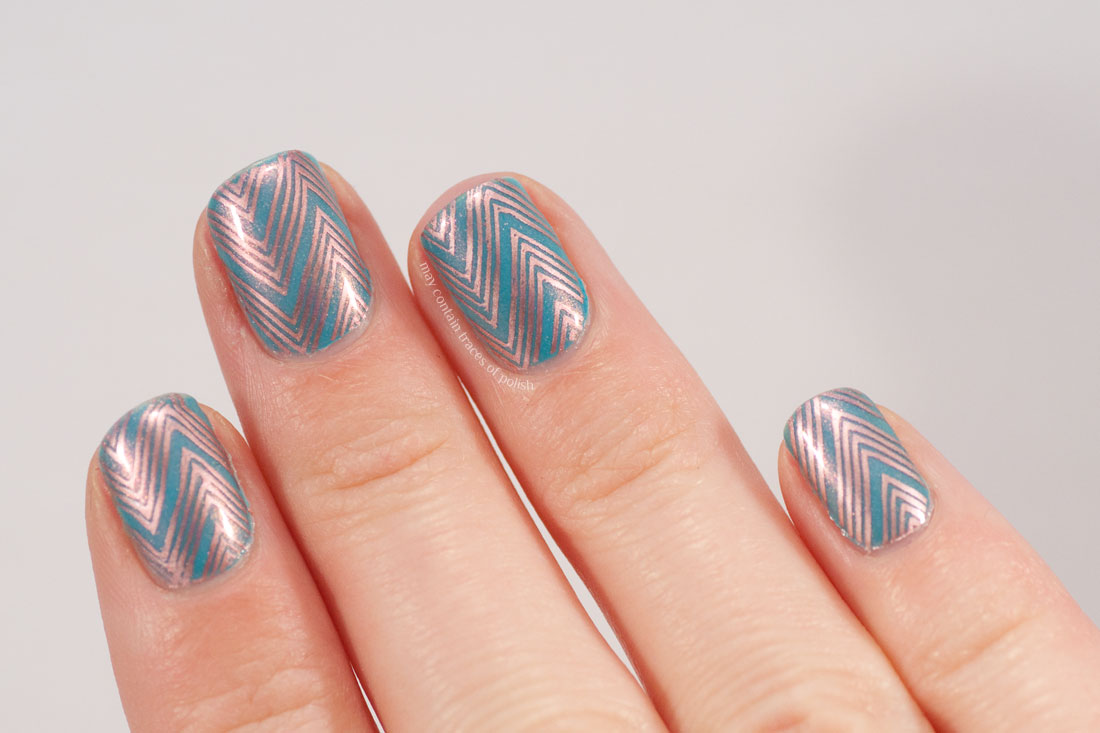 ILNP Valentina Rose Gold Chevron Nail Art