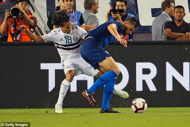 Chelsea's Matt Miazga mocks height of Mexico's Diego Lainez as tensions boil over in friendly match
