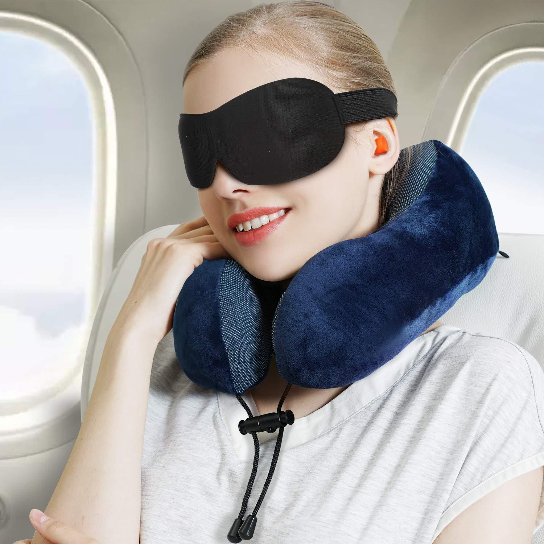 kit da viaggio aereo per il riposare