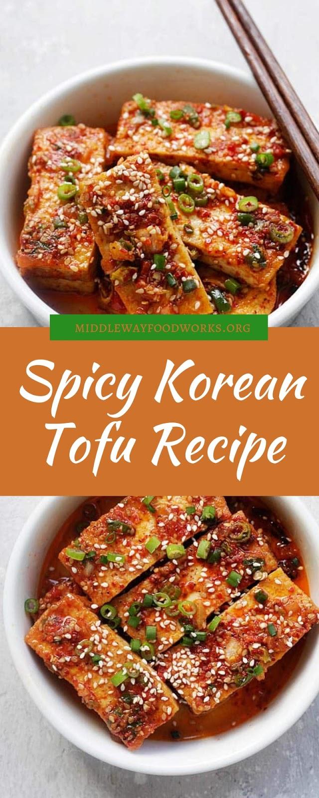 Spicy Korean Tofu Recipe