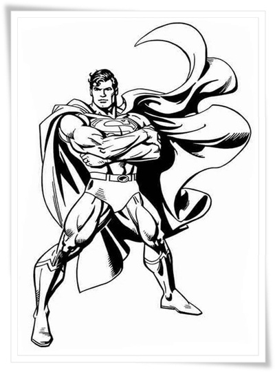 Superman Drawing For Kids