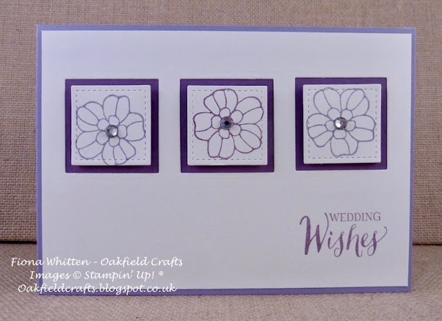 Wedding, Flowers, Stampin' Up! UK, Oakfield Crafts