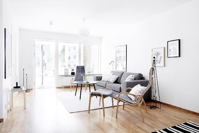 Apartamento de estilo escandinavo en blanco y gris la for Design nordico on line