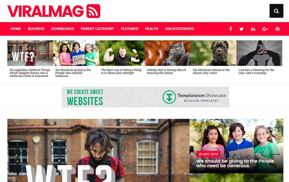 Viral Mag Responsive Blogger Template