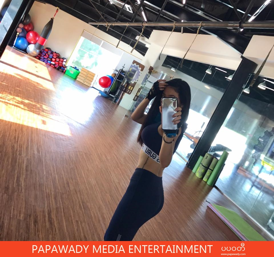 Thinzar Wint Kyaw Shows Off Her Body Fitness At Gym Selfie Shots