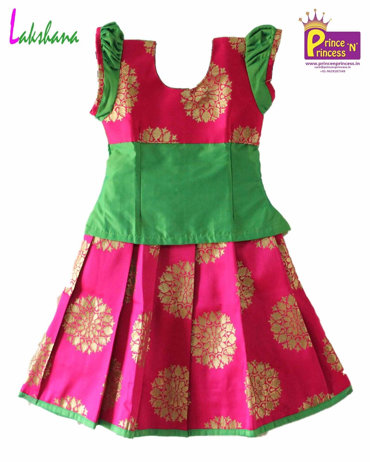 25af31ef7f5ef Prince N Princess  Grand Kids Traditional Pattu Pavadai