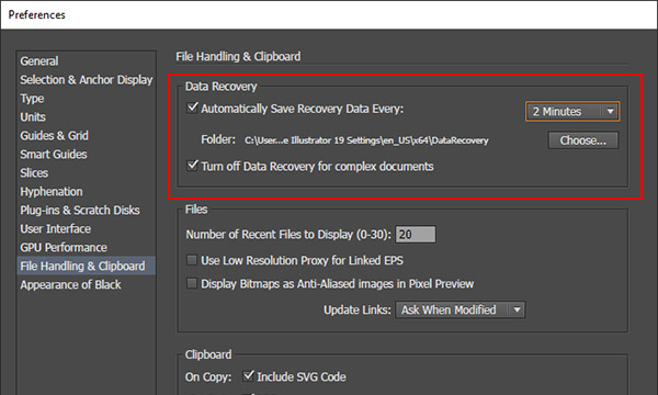 Data Recovery in Illustrator CC 2015 DesignEasy - service form in word