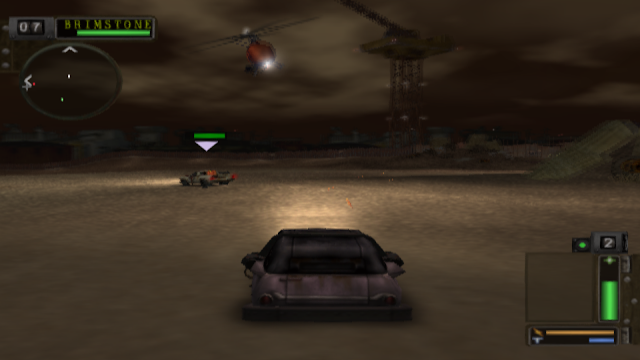 Arena bertarung Twisted Metal: Black.