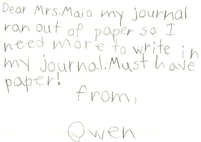 Reading Writing Connection: First Grade Writing Samples