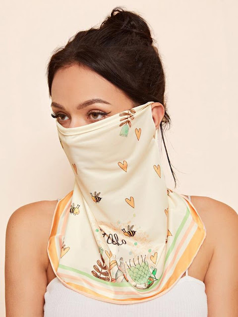 Máscara de Proteção de Lenço de Tecido