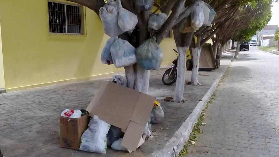 Resultado de imagem para lixo pendurado na cidade