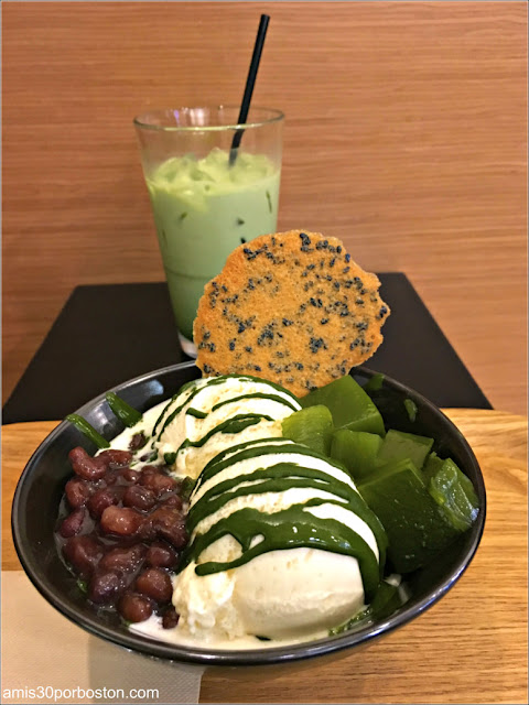 Ogawa Coffe: Matcha Latte con Hielo y Matcha Sundae