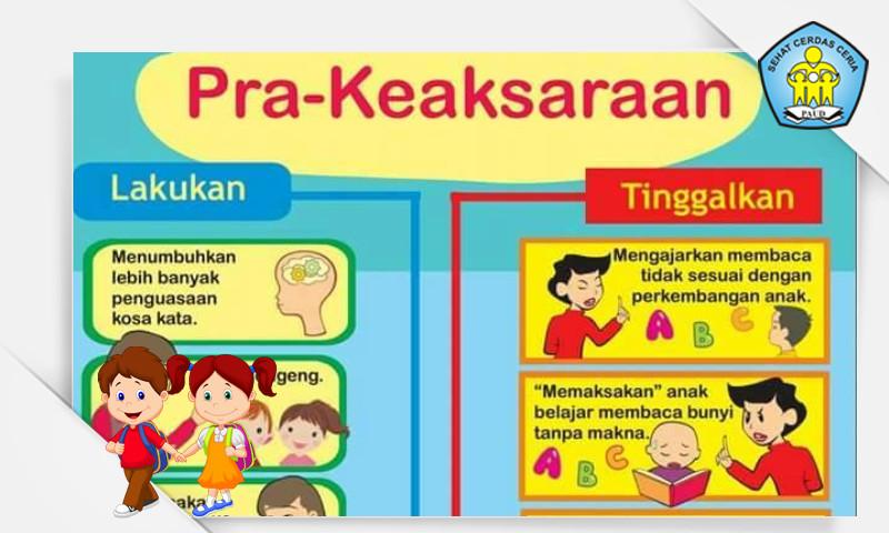 Buku Panduan Tips Metode Pra Keaksaraan Untuk Anak Usia Dini (PAUD)