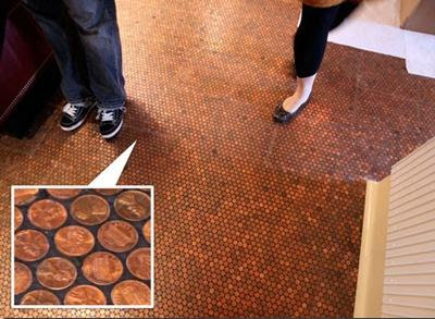 piso con troncos y resina
