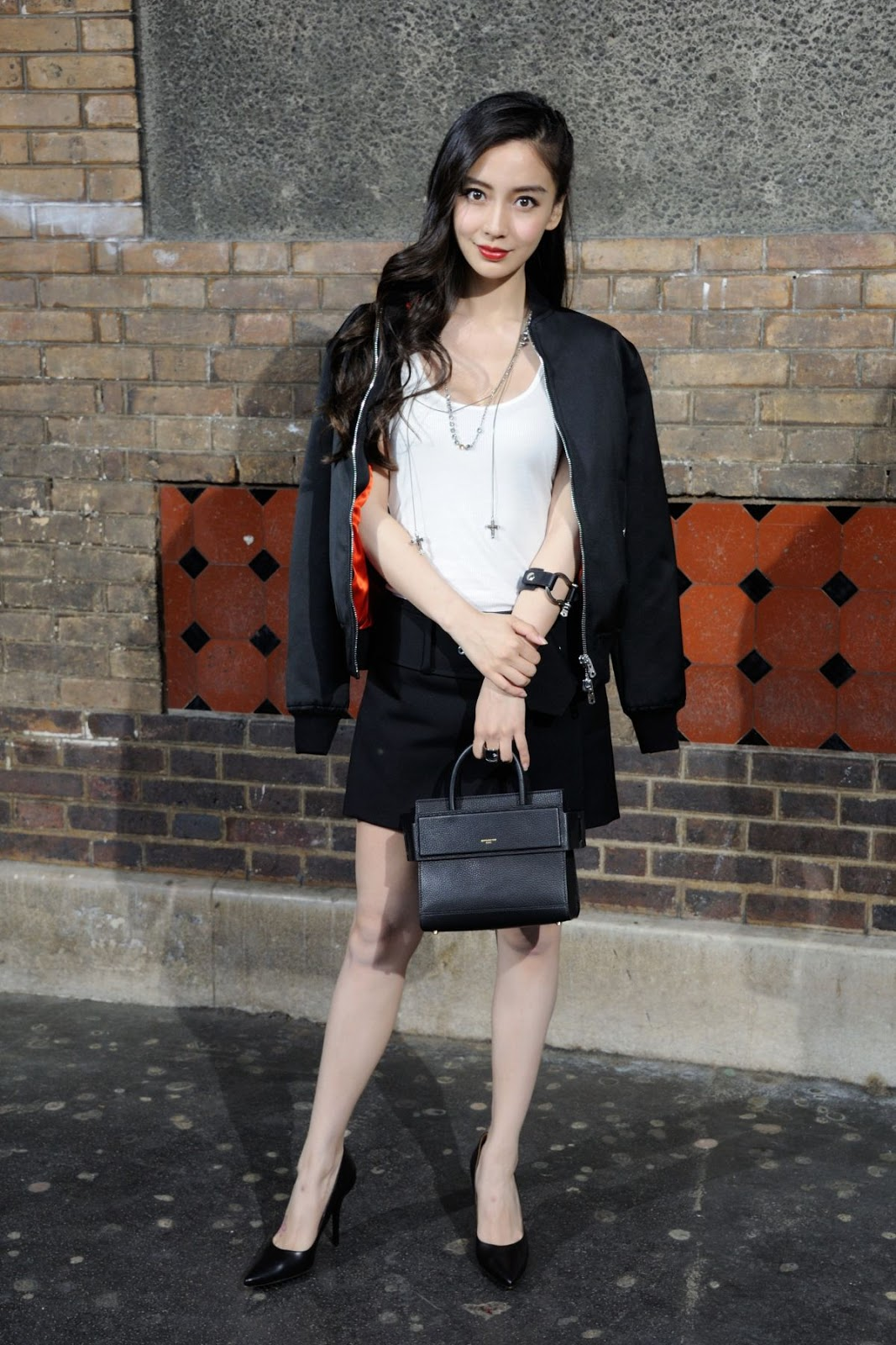 'Independence Day: Resurgence' actress Angelababy at Gvenchy Fashion Show in Paris
