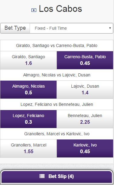 Quick Select also available on tennis - Quick Selection Soccer Betting - Hollywoodbets Mobile