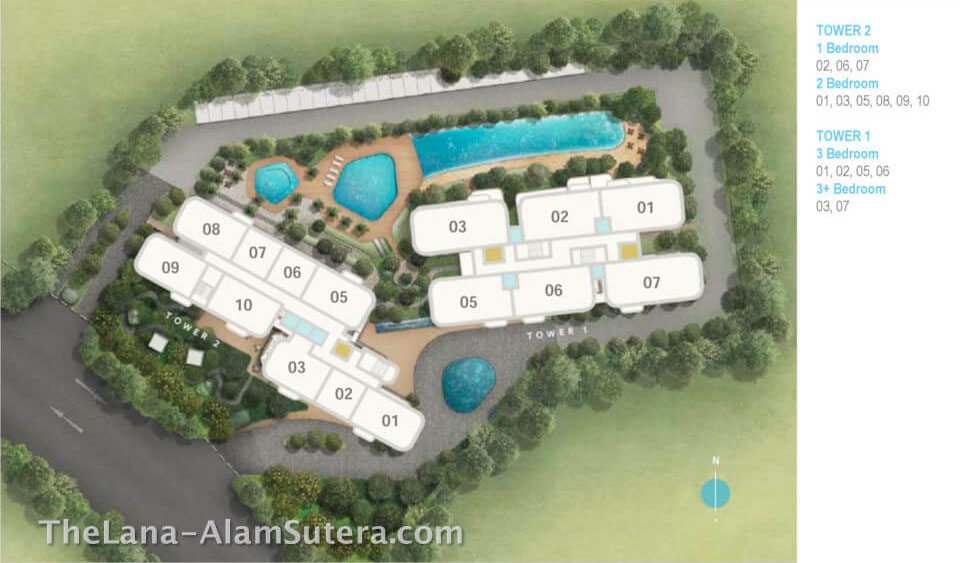 Typical Floor Plan The Lana Alam Sutera
