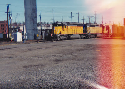 Union Pacific SD40-2 #3728 at Albina Yard in Portland, Oregon