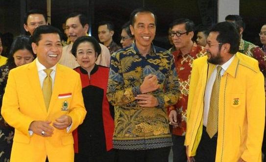 Manuver Golkar Ndompleng Popularitas Presiden Joko Widodo