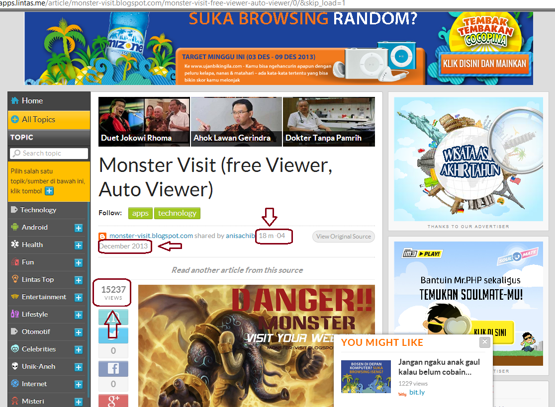 MONSTER VISIT (FREE VIEWER, AUTO VIEWER) | [MONSTER-VISIT