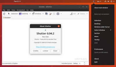 Shutter Ubuntu 18.10