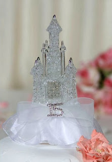 Rhinestone Cinderella Castle Wedding Cake Toppers