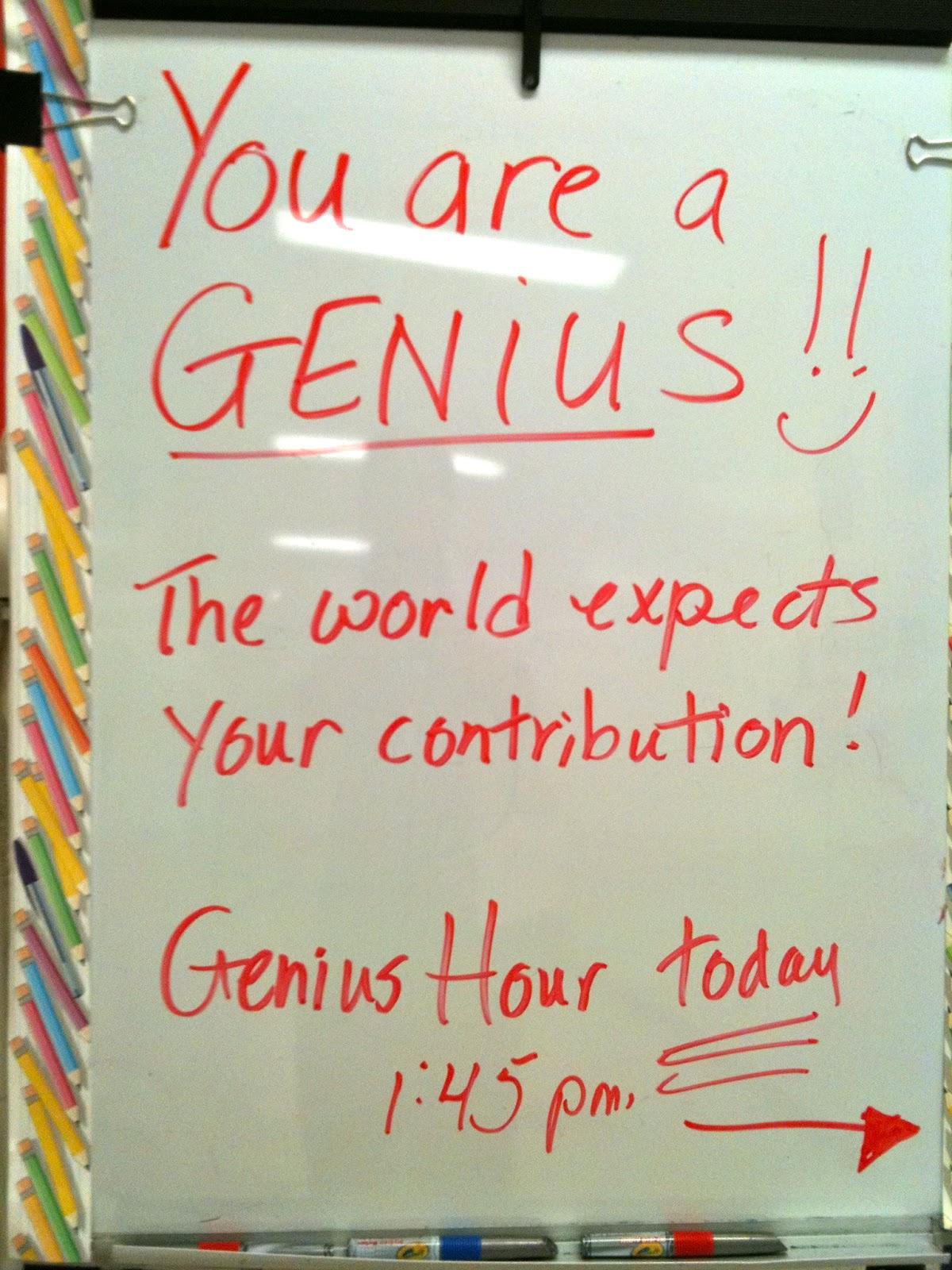 Teaching Is Elementary Genius Hour Reviewed