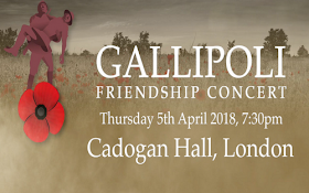 Gallipoli Friendship Concert - Cadogan Hall