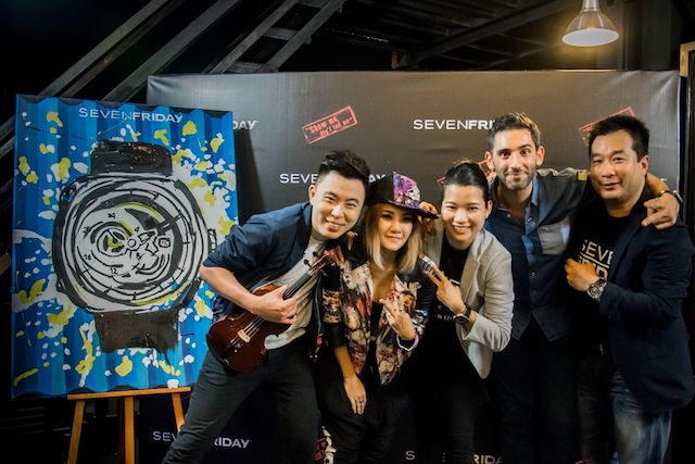 Guest artistes, folks from SevenFriday and Red Army Watches Malaysia posing for the camera