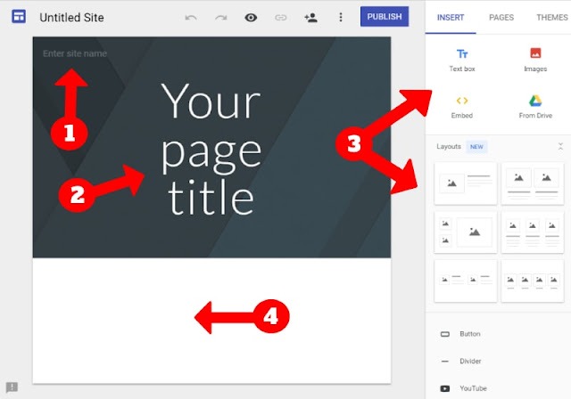 Build your home page in google sites