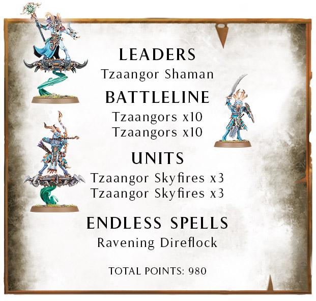 Lista 980 puntos Bestias del Caos