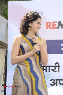 Actress Tapsee Panu Stills at Remonetise India Campaign in Chetna College Bandra West  0002.jpg
