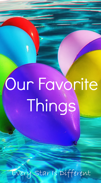 Our favorite things page-links to all of our favorite gifts and resources for kids.