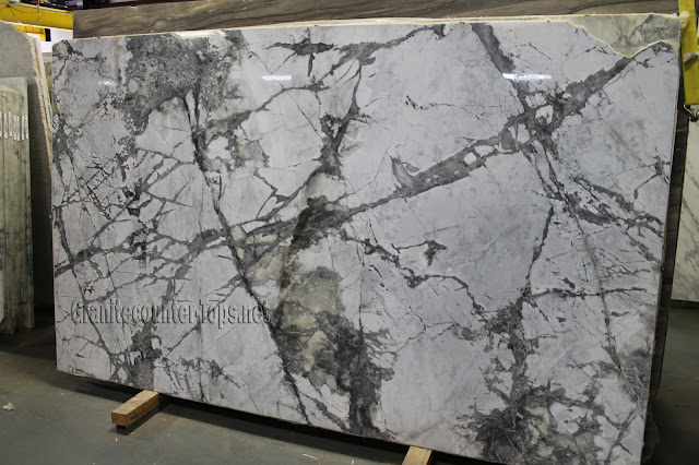 Pontevecchio polishing White Marble Slab