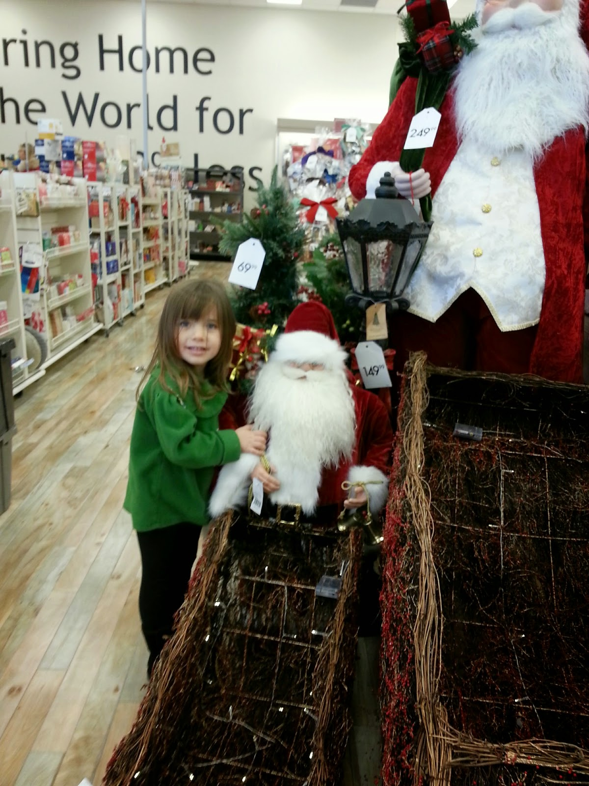 Santa Claus - shopping